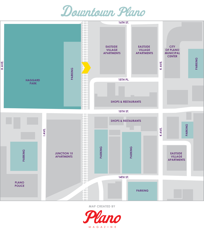 Downtown Plano Map