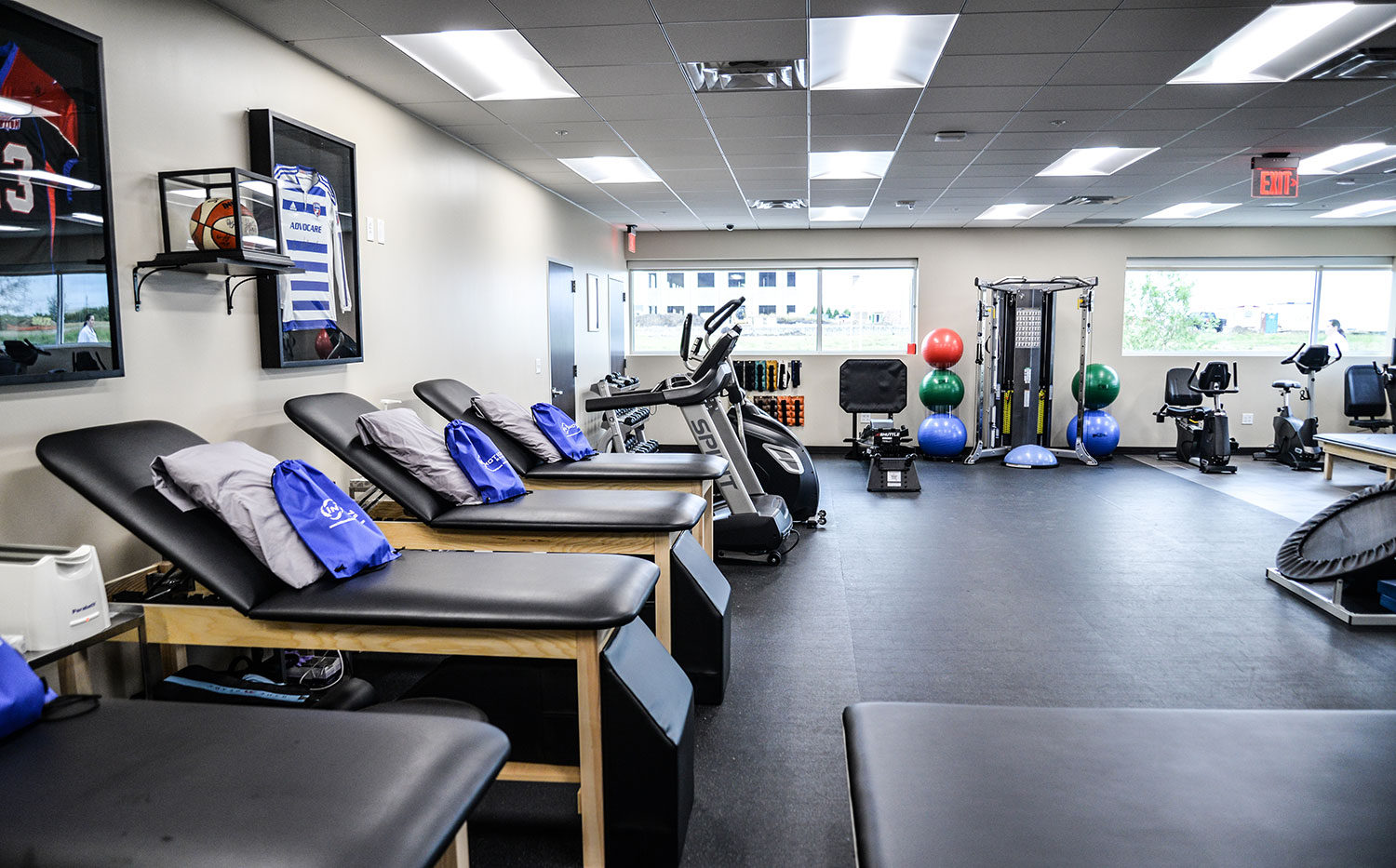 View of the InMotion Rehab at Lumin Health Center in Plano.  InMotion Rehab is in place if patients need long-term follow-up orthopedic care.