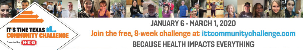 City of Plano – 8 Week Challenge Leaderboard 2020