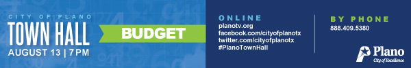 City of Plano – City Hall Budget 2020