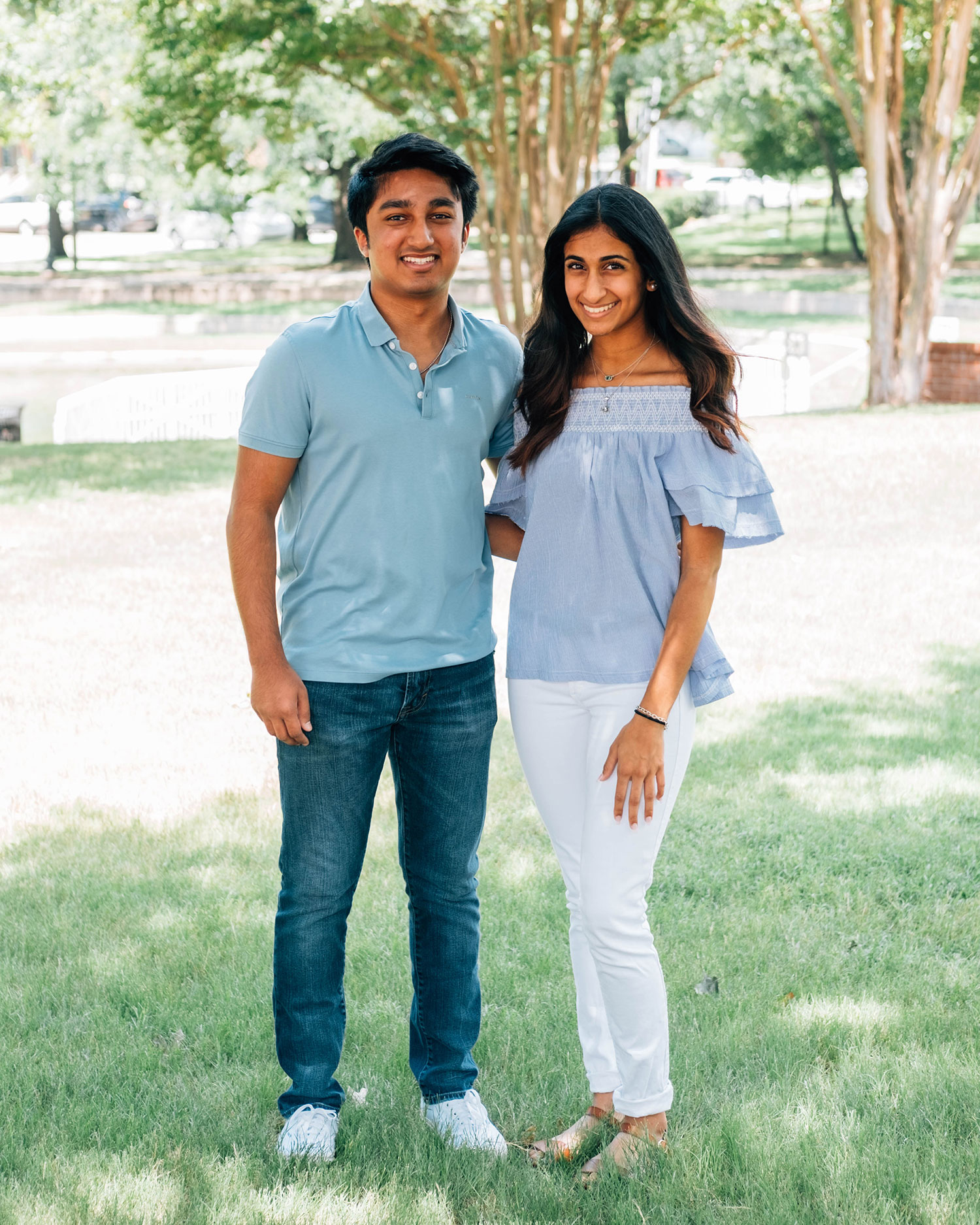 Ronak Shah (at left) and Sanjana Pemmaraju created Creativity for Cancer to fundraise for American Cancer Society // photo Hunter Lacey